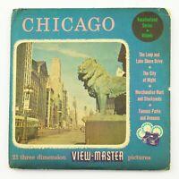 Vintage View-Master Reel Set 333 CHICAGO Vacationland Series (1957)
