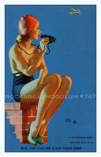 Pin Up Girl Poster 11x17 Mutoscope Art Earl Moran Swimsuit Summer Beach
