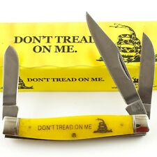 Rough Rider Don't Tread on Me Yellow Smooth Stockman Pocket Knife RR1390 Snake