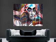 TRIPPY SEXY GIRL WOMEN GRAFFITI POSTER ABSTRACT ART WALL LARGE BANKSY