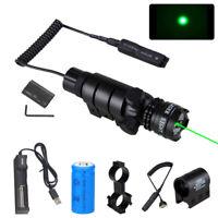 Hunting Shotgun Flashlight Red Green Dot Laser Sight LED Torch Battery Charger