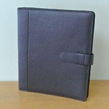 Day Timer Monarchfolio Burgundy Pebbled Leather 11 Planner Binder Organizer