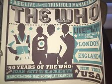 THE WHO MSG MADISON SQUARE GARDEN 3/3 NYC POSTER LOW LUCKY NUMBER #7 OUT OF 275