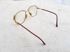 Vintage Style Doré Cadre Très Épais Verre Unique Spectacles/Lunettes