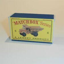 Matchbox Lesney  6 b Euclid Quarry Truck empty Repro D style Box
