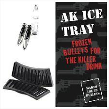 AK 47 Gun Bullet 10 slot 3D Ice Cube Tray Plastic Mold  Drink DIY Ice Mould