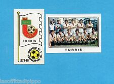 PANINI CALCIATORI 1979/80-Figurina n.535- TURRIS -SCUDETTO+SQUADRA-Rec