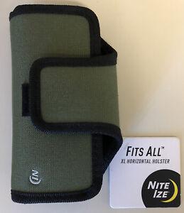 NEW Nite Ize Green Horizontal Universal Holster Case for Medium/Small Phone