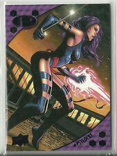 2017 Marvel Premier #37 Psylocke ( X-Men ) Black Foil Parallel Serial #ed. 4 / 5