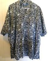 Polo Ralph Lauren Clayton Brown Short Sleeve Abstract Print Shirt Size XXL VTG