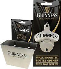 Guinness Wall Pub Bar Bottle Opener & Cap Catcher Irish Beer Motif