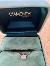 Stunning Platinum Engagement Ring 1/2 Carat Diamond Band Size Q