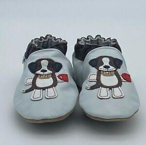 Robeez Soft Soles Alpine Rescue Dog - Blue - Baby Boys Shoes Size 0-24 Months