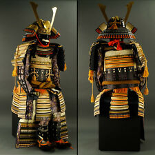 Japanese Wearable SAMURAI Warrior YOROI Armor & KABUTO Helmet Set w/ Box: IG039