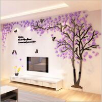 3D Tree Mirror Removable Decal Art Mural Wall Sticker Home Room New DIY Decor