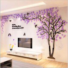 3D Flower Tree Arcylic Wall Sticker Room Decal Mural Art Parlor TV Wall Decor