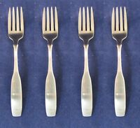 SET OF FOUR - Oneida Stainless Flatware PAUL REVERE Salad Forks USA