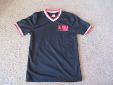 Nba Logo Top Athletic Gym Black red white jersey Shirt Men's small