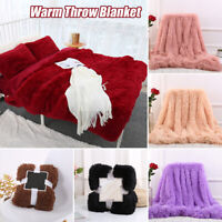 Warm Throw Blanket Soft Beds Shaggy Plush Fluffy Cozy Sofa Cushion Decoration AU