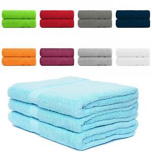 2 x 600 GSM LUXURY BATH SHEETS 100% COTTON SOFT DURABLE PREMIUM QUALITY TOWELS
