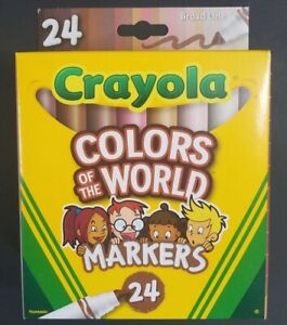 🖍 Crayola Colors of the World Multicultural Colored Markers 24 Pack Diversity