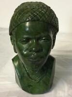 John Chihowa Semi Precious Verdite Statue Sculpture