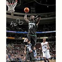 """KEVIN GARNETT Autographed Timberwolves """"Dunking"""" 16"""" x 20"""" Photograph FANATICS"""