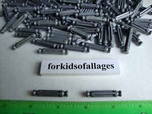 """100 KNEX METALLIC GRAY/SILVER RODS 1 5/16"""" Bulk Standard K'nex Parts/Pieces Lot"""