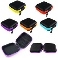 NE_ Trendy Pocket Hard Case Storage Bag for Headphone Earphone Earbuds TF SD Car