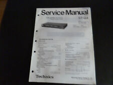Original Service Manual Technics Tuner ST-G4