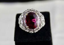 Super Fine Top Quality 12.90 Carat Rubellite Gemstone Engagement Ring 925 Silver