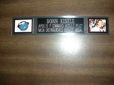 DONN EISELE (ASTRONAUT) ENGRAVED NAMEPLATE FOR PHOTO/DISPLAY