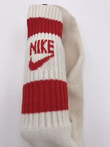 Vintage Nike Tube Socks Red White 70's 80's