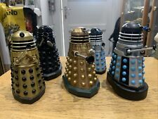 More details for dr who bbc daleks figure bundle  terry nation 1963 black gold blue silver army