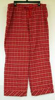 Eddie Bauer Red Plaid Soft & Cozy Flannel Lounge PJ Pants Women's XL