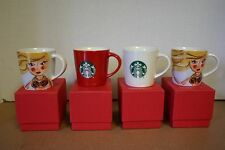 "NIB 4 STARBUCKS ESPRESSO COFFEE CUP MUG MINI 3 FL OZ each 2.5"" TALL"
