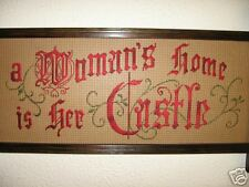 a Woman's Home is her Castle Victorian motto kit