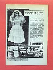 C557-Advertising Pubblicità-1959 - BASSETTI LINO MISTO LINO COTONE