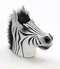 Zebra Animal Mask FULL SIZE Life-Life Realistic LATEX Costume Adult Head NEW
