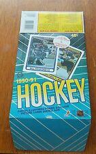 O-pee-Chee Hockey empty box  1990 -91  box bottom Mario lemieux / Patrick Roy