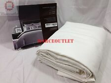 Hudson Park 800 Thread Count Solid 100% Egyptian Cotton KING Duvet Cover White