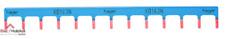 Barre de pontage unipolaire 13 modules neutre disjoncteur à vis Hager KB163N