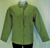 Dressbarn Women's Size 16W Asian Style Quilted Jacket Button Lined Coat Green