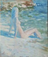 grand  huile /toile  - tableau - Jeune femme    - signée Alexander SHEVCHUK