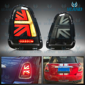 Smoked LED Tail Light For 11-13 Mini R57 R58 Cooper S Union Jack With Sequential