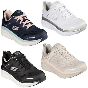 Skechers Walking Trainers Womens Relaxed Fit D'Lux Walker Infinite Motion Shoes