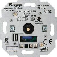 Kopp Universal Druckwechsel-Dimmer Sockel mit Nebenstellenanschluss LED Lampen