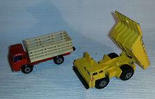 2x alte Spielzeugautos/Vintage toy cars MATCHBOX: Faun Dump & Cattle Truck