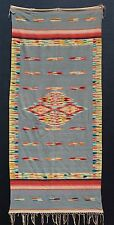 A FANTASTIC 1920s ANTIQUE MEXICAN SALTILLO SERAPE BLANKET RUG SHAWL -EXCELLENT !