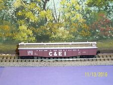 MICRO-TRAINS N SCALE #106030 50' STEEL SIDE 14 PANEL FIXED END GONDOLA C&EI #82